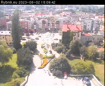 obraz z kamery na Teatrze Ziemi Rybnickiej